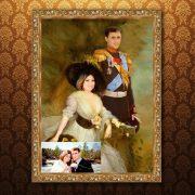 Исторический портрет пары мужчина и женщина